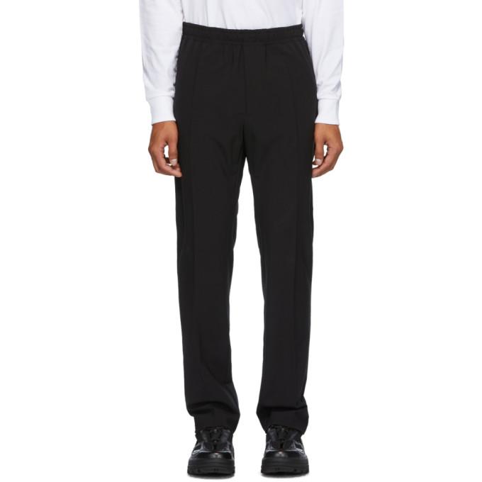 1017 ALYX 9SM Black Wool Elastic Waist Trousers 202776M19103203