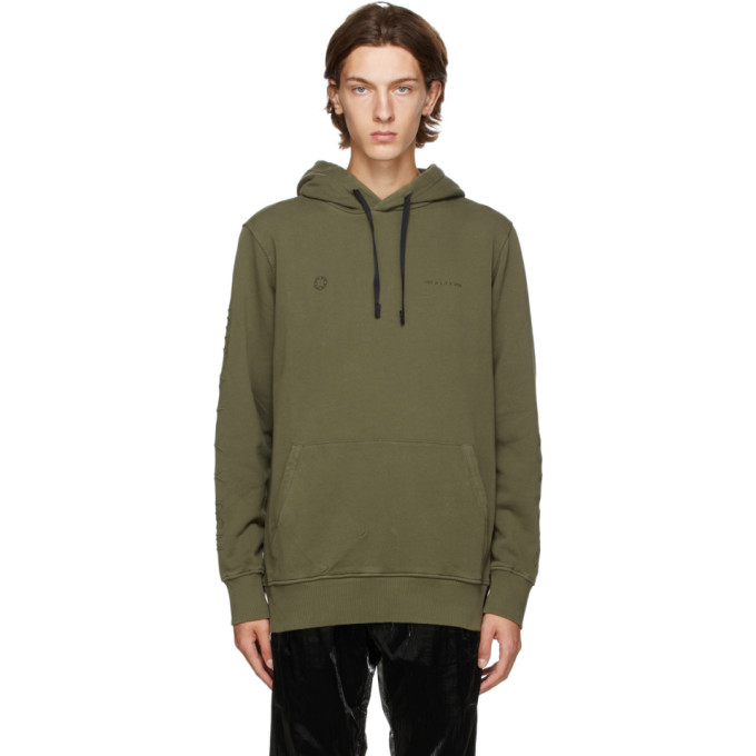 1017 ALYX 9SM Green Double Logo Hoodie 202776M20205401