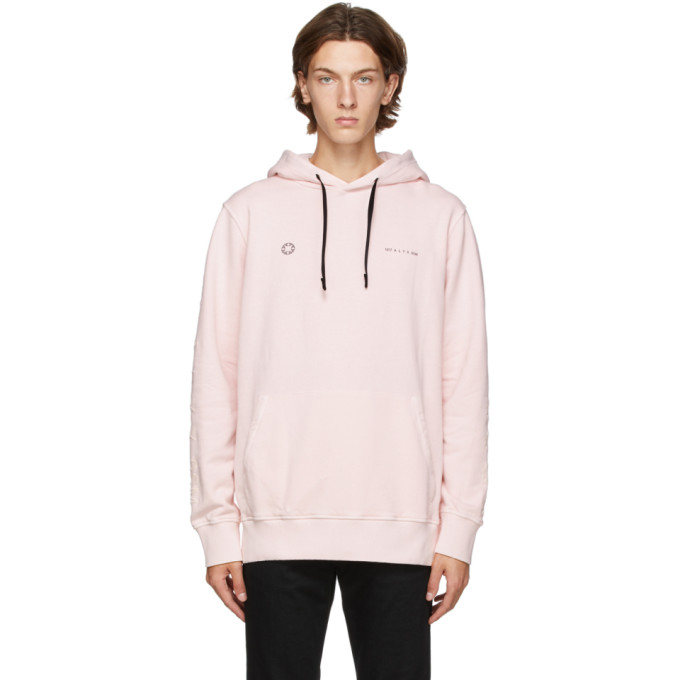 1017 ALYX 9SM Pink Double Logo Hoodie 202776M20205502