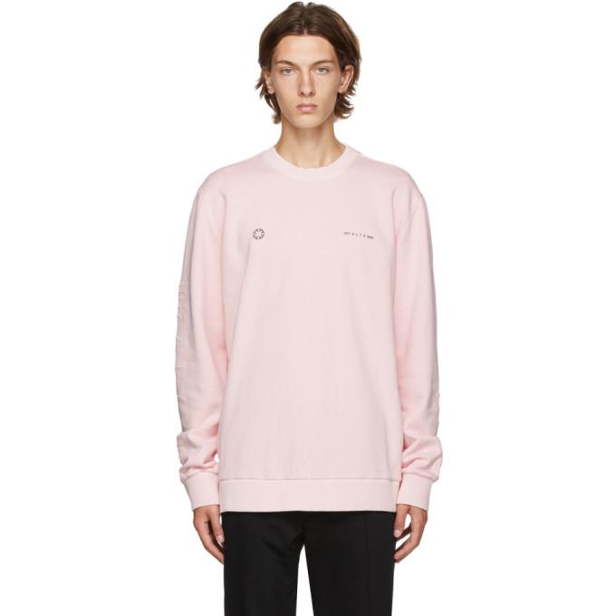 1017 ALYX 9SM Pink Double Logo Sweatshirt 202776M20405604