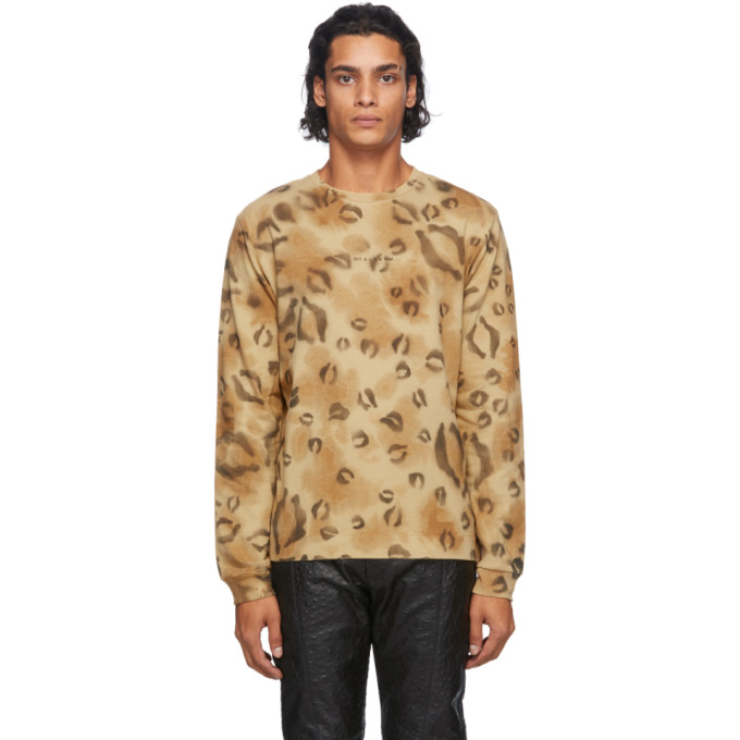 1017 ALYX 9SM Brown Leopard Long Sleeve T Shirt 202776M21306604