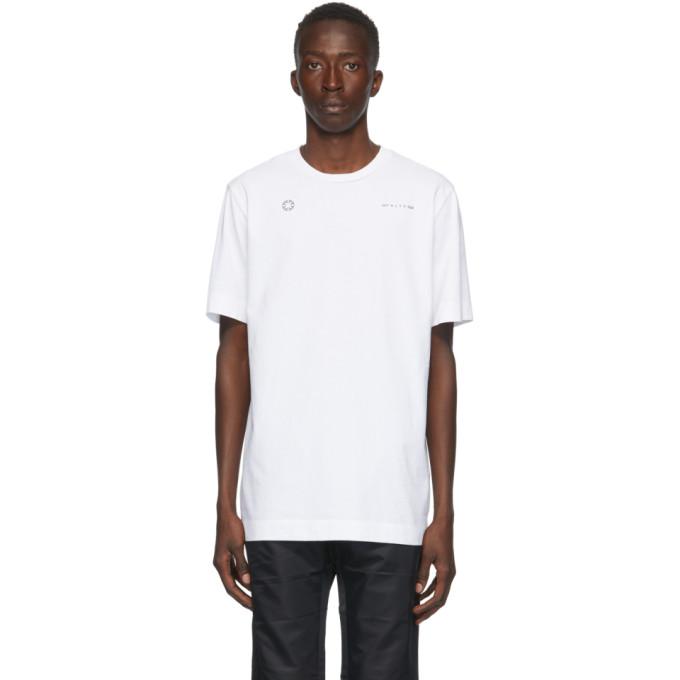 1017 ALYX 9SM White Double Logo T Shirt 202776M21307001
