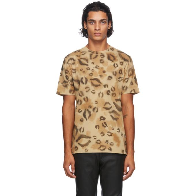 1017 ALYX 9SM Brown Leopard Logo T Shirt 202776M21307301