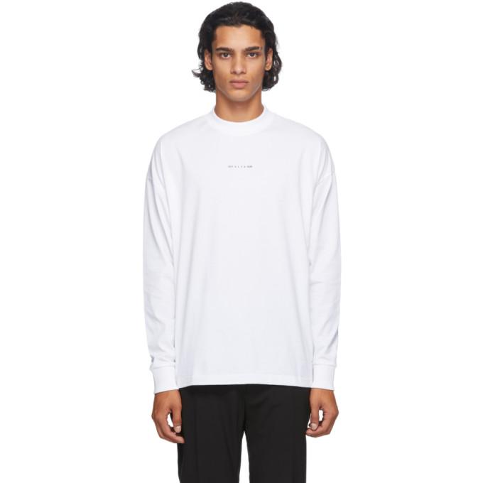 1017 ALYX 9SM White Visual Long Sleeve T Shirt 202776M21307907
