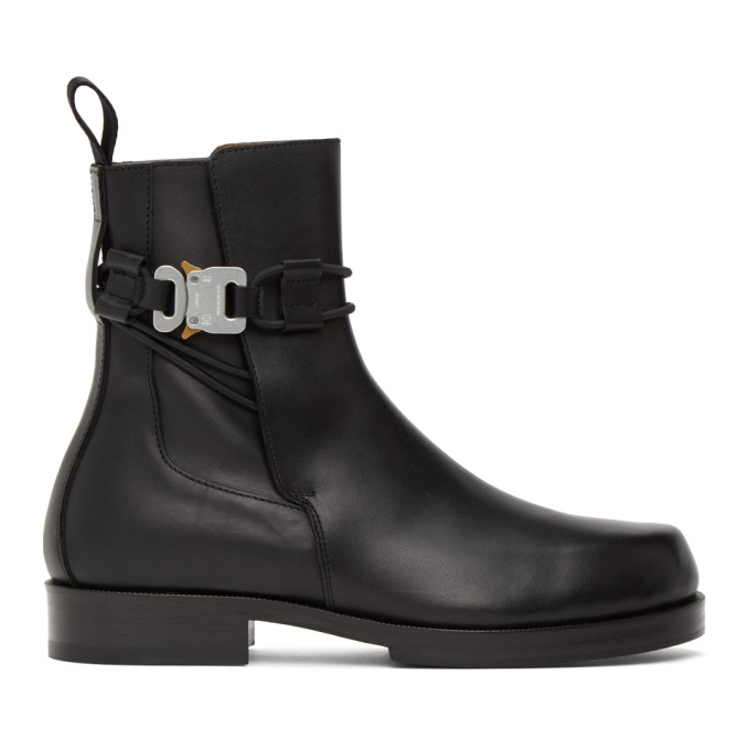 1017 ALYX 9SM Black Buckle Chelsea Boots 202776M22308506