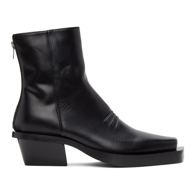 1017 ALYX 9SM Black Leone Zip Boots 202776M22803402