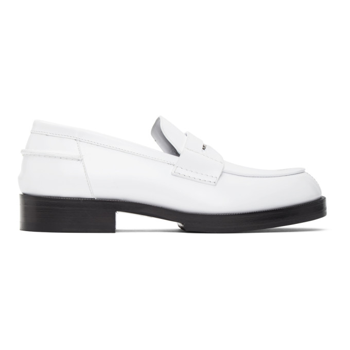 1017 ALYX 9SM White A Penny Loafers 202776M23114104