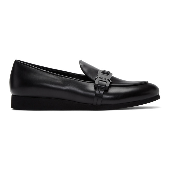 1017 ALYX 9SM Black St Marks Buckle Loafers 202776M23114303