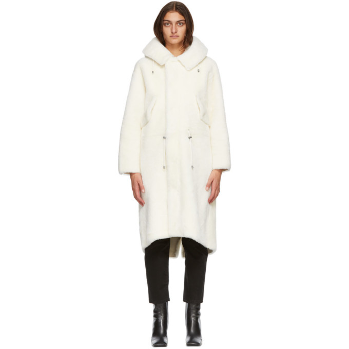 Mr & Mrs Italy MR AND MRS ITALY WHITE NICK WOOSTER EDITION SHEARLING PARKA