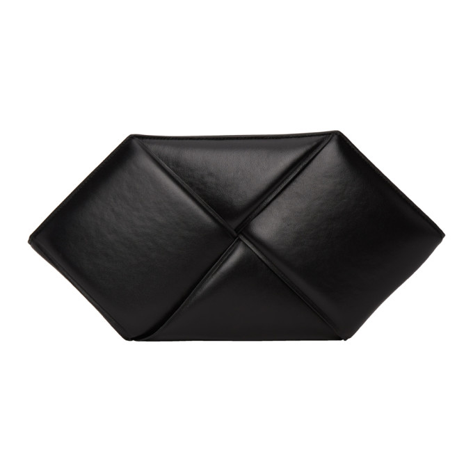 Bottega Veneta Pouches BOTTEGA VENETA BLACK HEXAGONAL POUCH