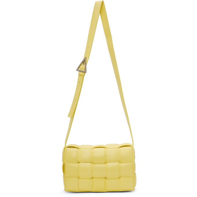 Bottega Veneta BOTTEGA VENETA YELLOW PADDED CASSETTE BAG