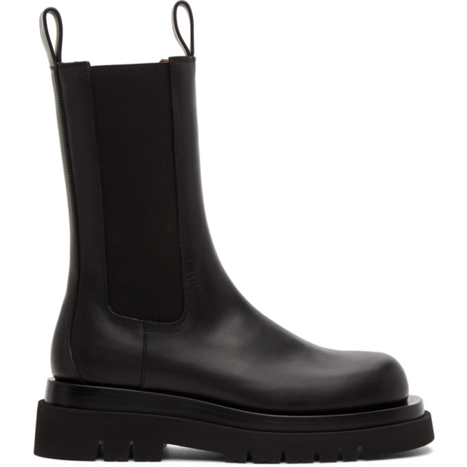 Black Medium BV Tire Chelsea Boots
