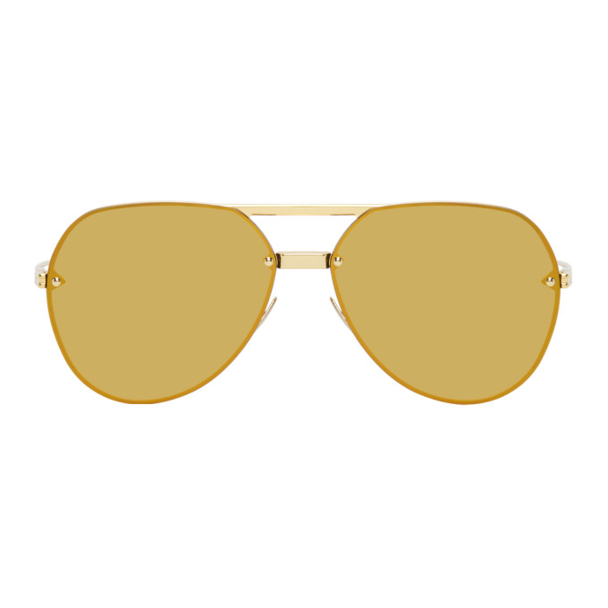Bottega Veneta 金色飞行员太阳镜