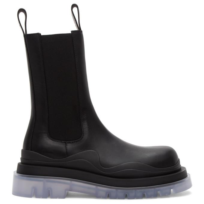 Bottega Veneta Black Medium The Tire Chelsea Boots  - buy with discount