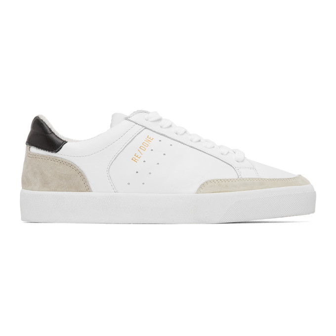 Re/done RE/DONE WHITE 90S SKATE SNEAKERS