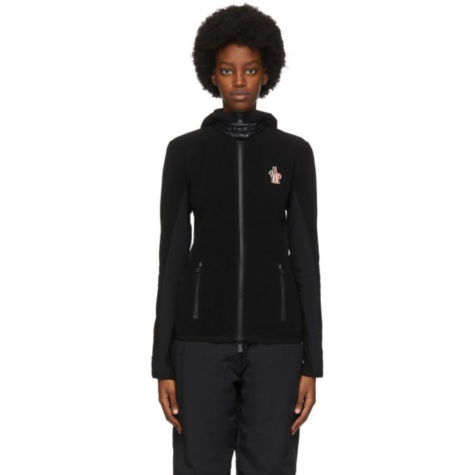 Moncler Grenoble Moncler Grenoble Black Contrast Zip-Up Jacket