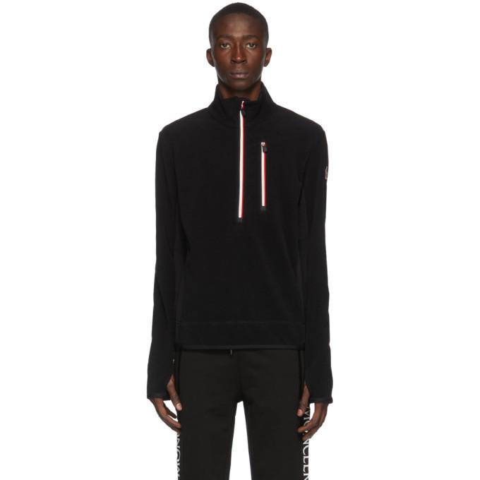 Moncler Grenoble Moncler Grenoble Black Fleece Half-Zip Jacket