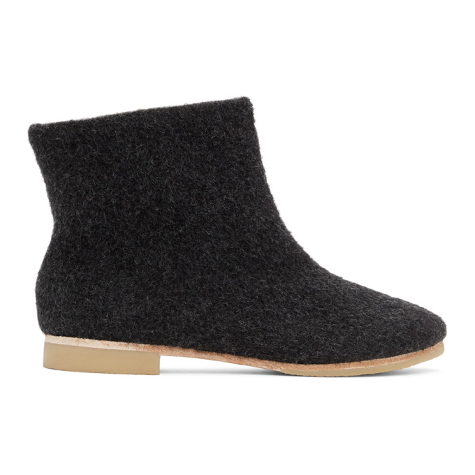 Lauren Manoogian Black Alpaca Ankle Boots