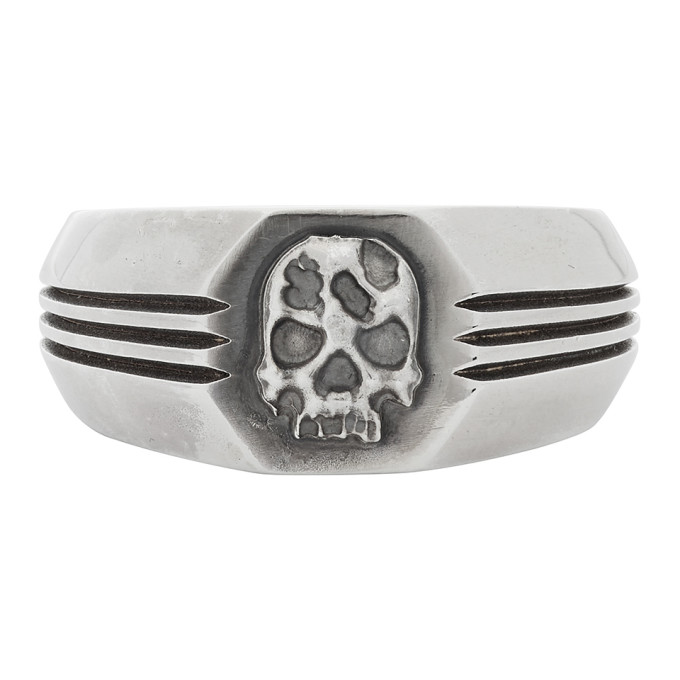 SSENSE Exclusive Silver Skull Ring
