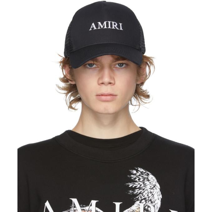 Amiri AMIRI BLACK LOGO TRUCKER HAT
