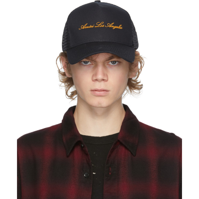 Amiri AMIRI BLACK TRUCKER HAT