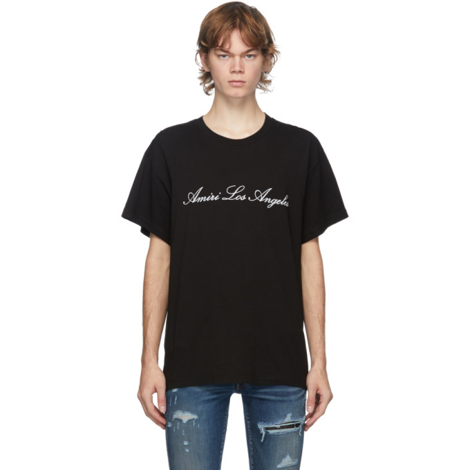 Amiri AMIRI BLACK LOS ANGELES T-SHIRT