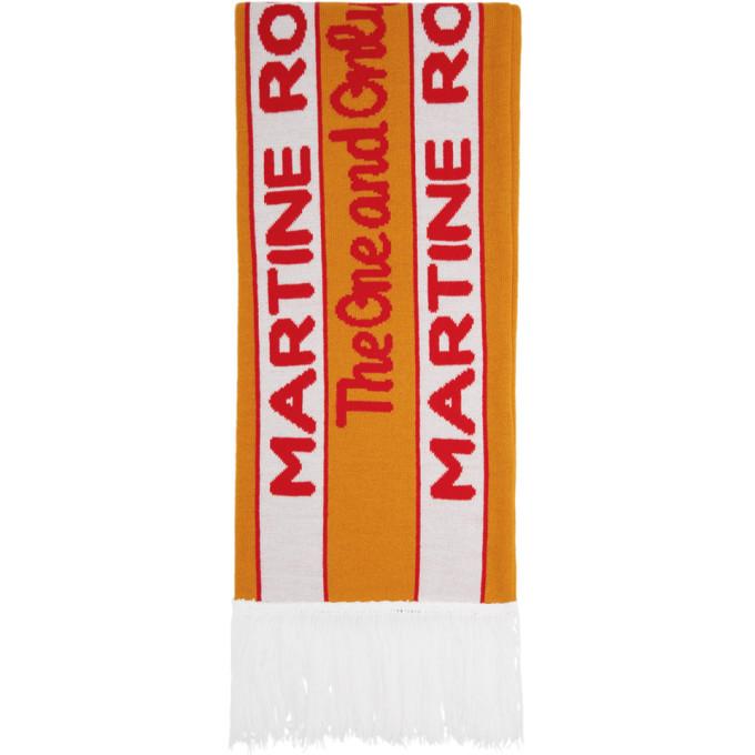 Martine Rose Foulard orange et vert Football exclusif a SSENSE
