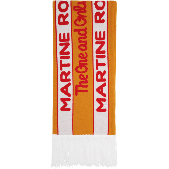 SSENSE Exclusive Orange and Green Football Scarf