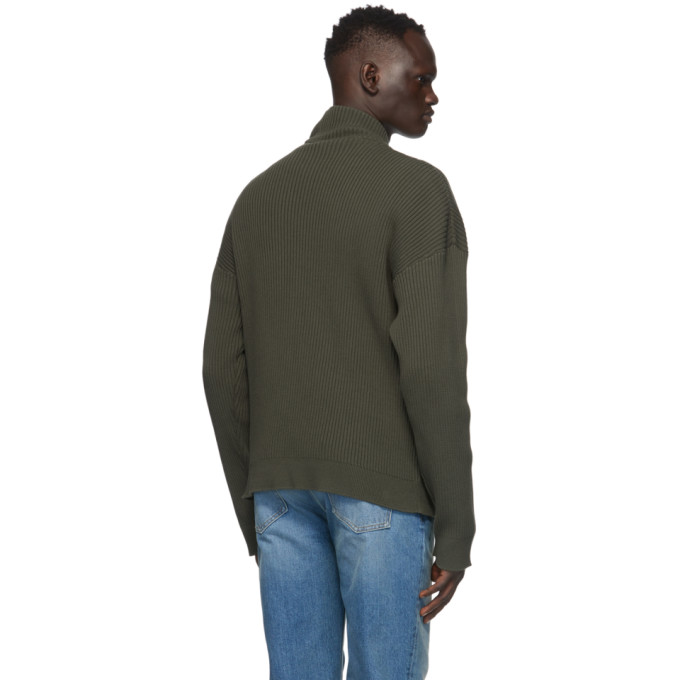 Y/PROJECT Cottons Y/PROJECT GREEN CLIPPED SHOULDER TURTLENECK