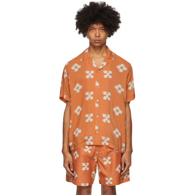 Saturdays Surf Nyc SATURDAYS NYC ORANGE FLORAL CANTY IKAT SHIRT