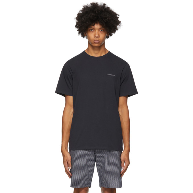 Saturdays Surf Nyc SATURDAYS NYC NAVY LEON T-SHIRT