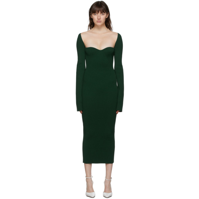 Khaite KHAITE GREEN BETH DRESS