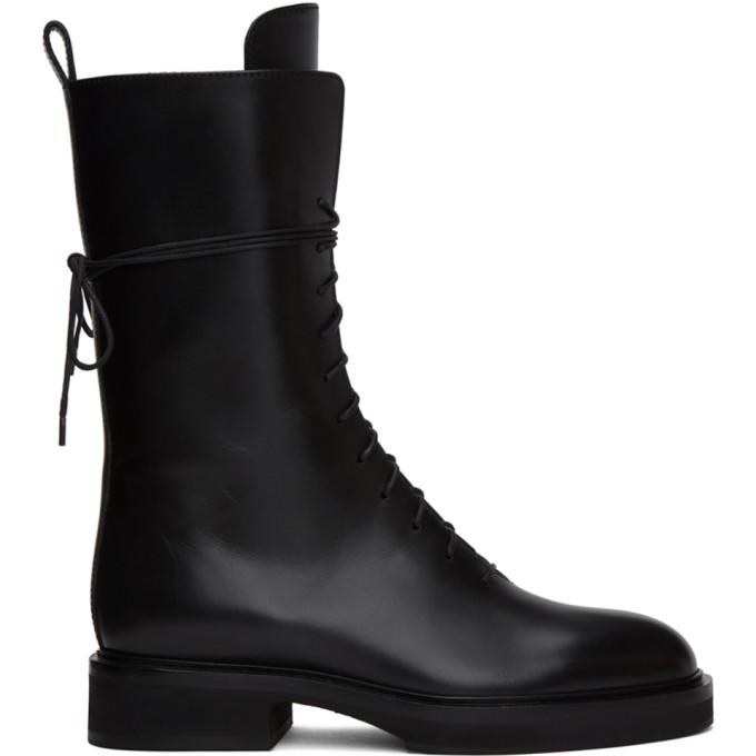 Khaite 黑色 The Lace Up Combat 中筒靴