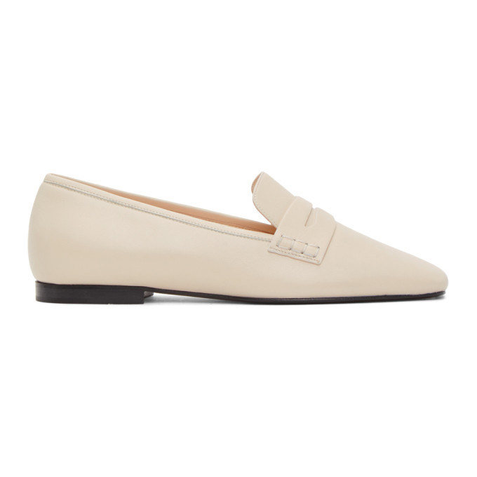 Khaite KHAITE OFF-WHITE CARLISLE LOAFERS