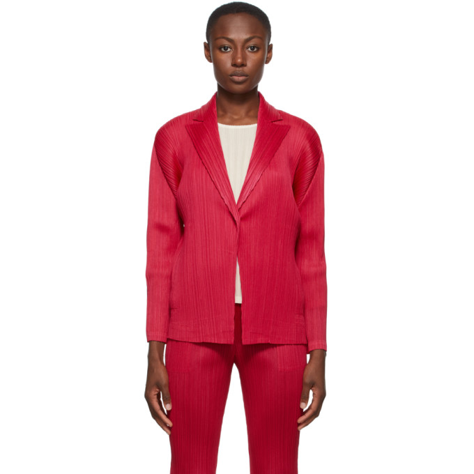 Pleats Please Issey Miyake Pink Monthly Colors September Blazer In 25 Magenta