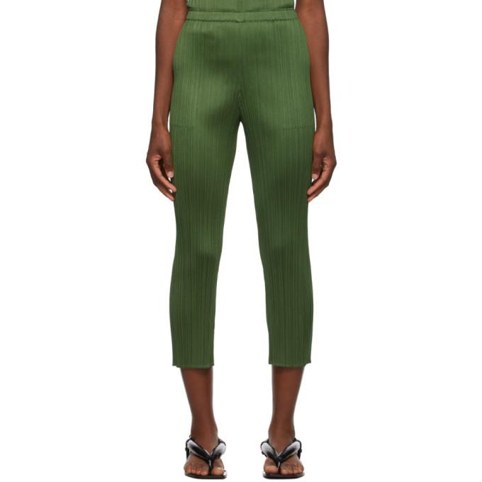 Pleats Please Issey Miyake Pantalon kaki Monthly Colors September