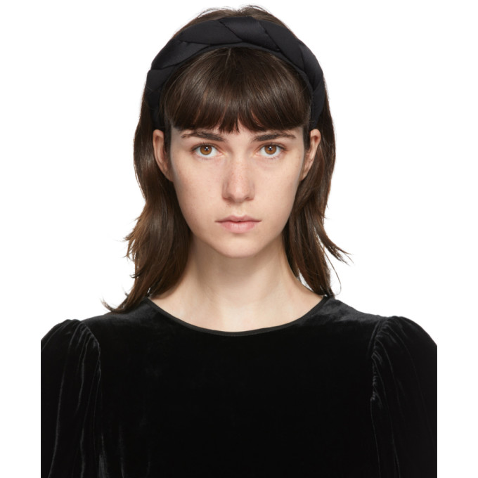 Sophie Buhai Serre-tete torsade en soie noir Classic