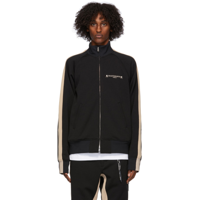 mastermind WORLD mastermind WORLD Black and Beige Side Line Track Jacket