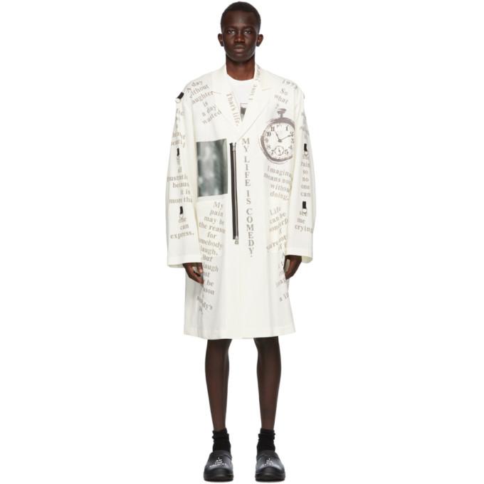 TAKAHIROMIYASHITA TheSoloist. TAKAHIROMIYASHITA TheSoloist. White Notched Lapel Doctor Jacket