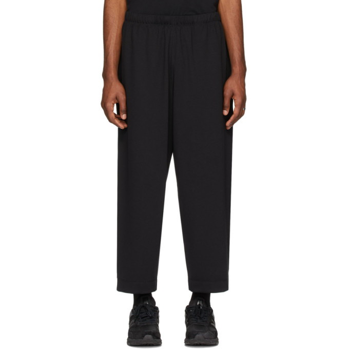N.Hoolywood Pantalon de survetement noir Open Leg