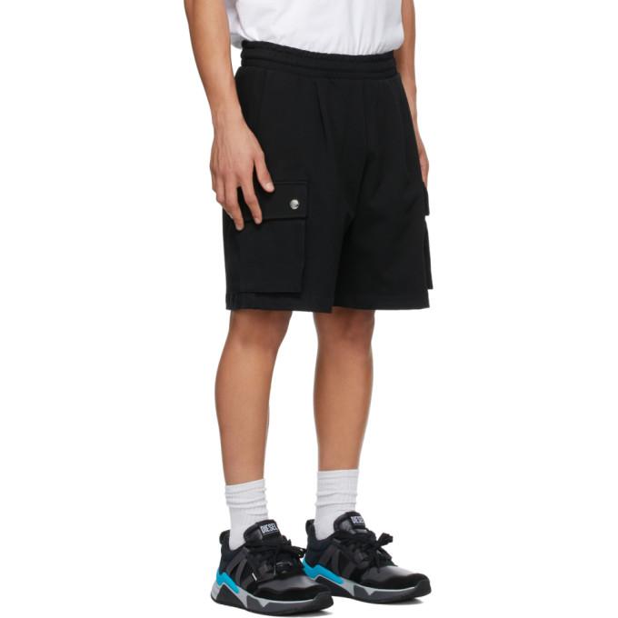 DIESEL Cottons DIESEL BLACK P-PRONE SHORTS