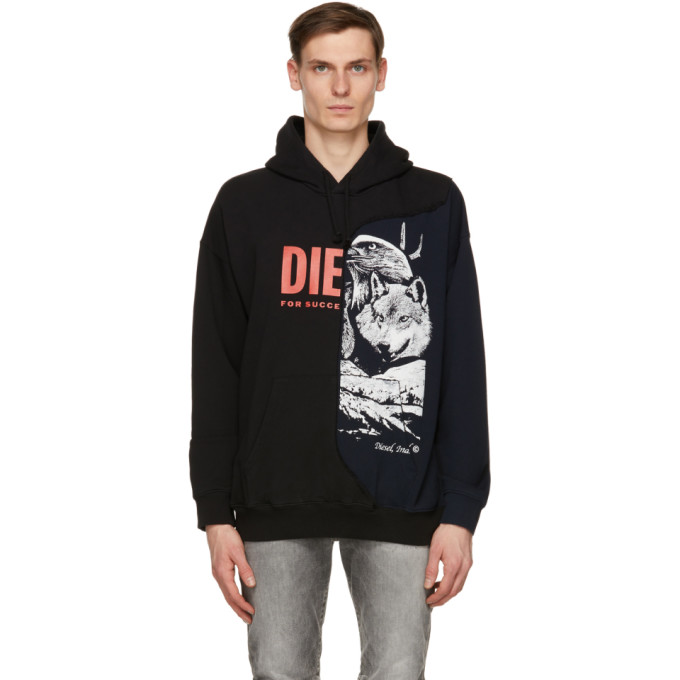 Diesel DIESEL BLACK AND NAVY S-BLASTY HOODIE