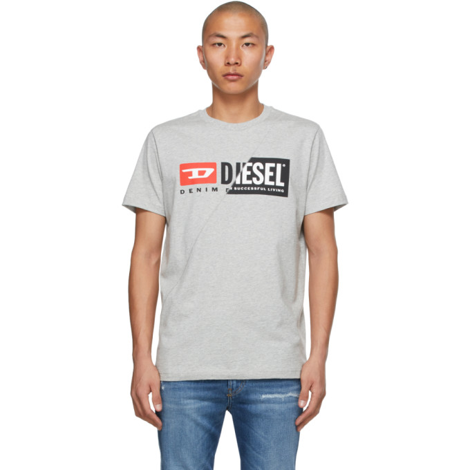 Diesel DIESEL GREY DIEGO-CUTY T-SHIRT
