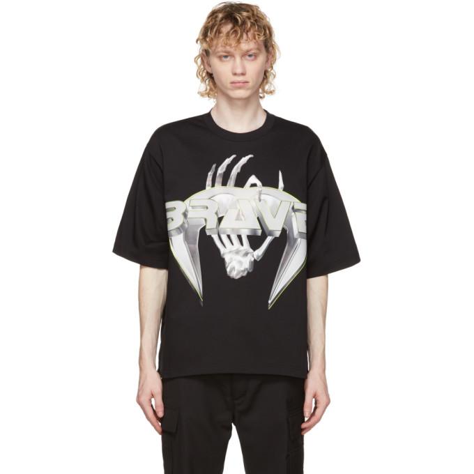 Diesel T-diebind-slits-a2 T-shirt In Black In 9xx Black