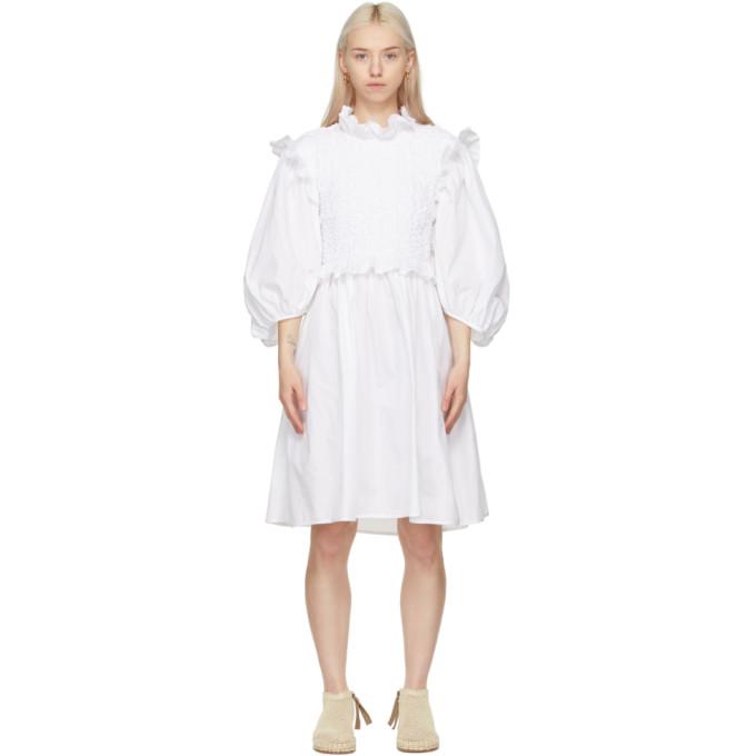 Cecilie Bahnsen SSENSE 独家发售白色 Cora 连衣裙