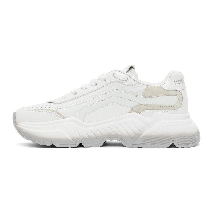 DOLCE & GABBANA Suedes DOLCE AND GABBANA WHITE AND GREY GRADIENT DAYMASTER SNEAKERS