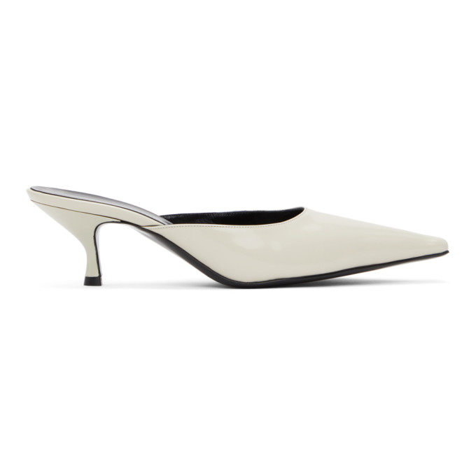 Kwaidan Editions KWAIDAN EDITIONS OFF-WHITE POINTED HEELS