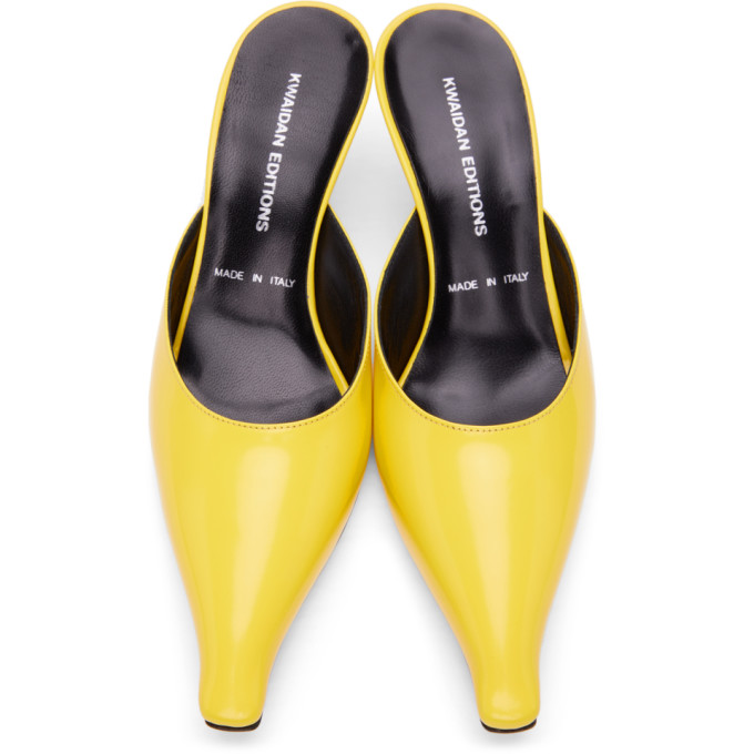 KWAIDAN EDITIONS Mid heels KWAIDAN EDITIONS YELLOW POINTED HEELS