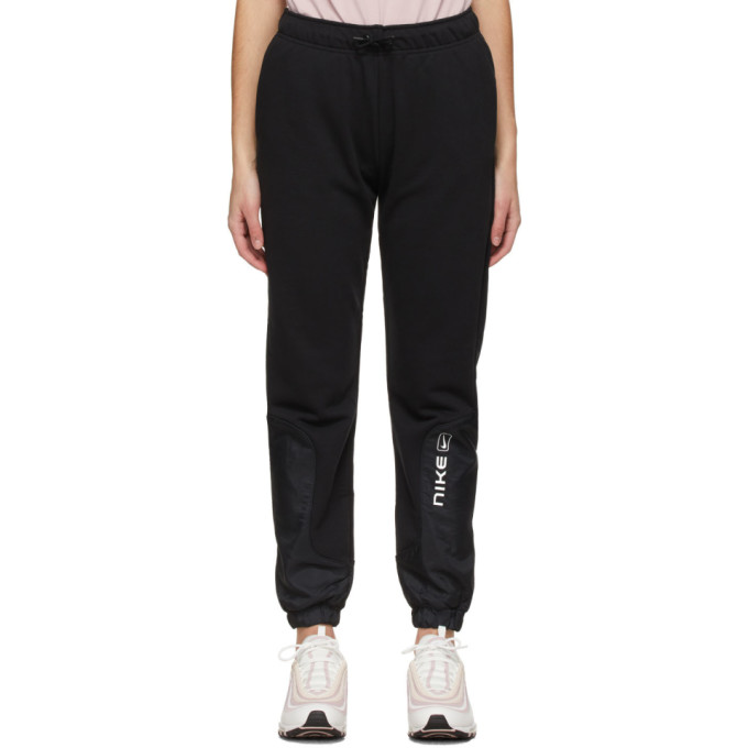 Nike NIKE BLACK SPORTSWEAR MIX STREET LOUNGE PANTS