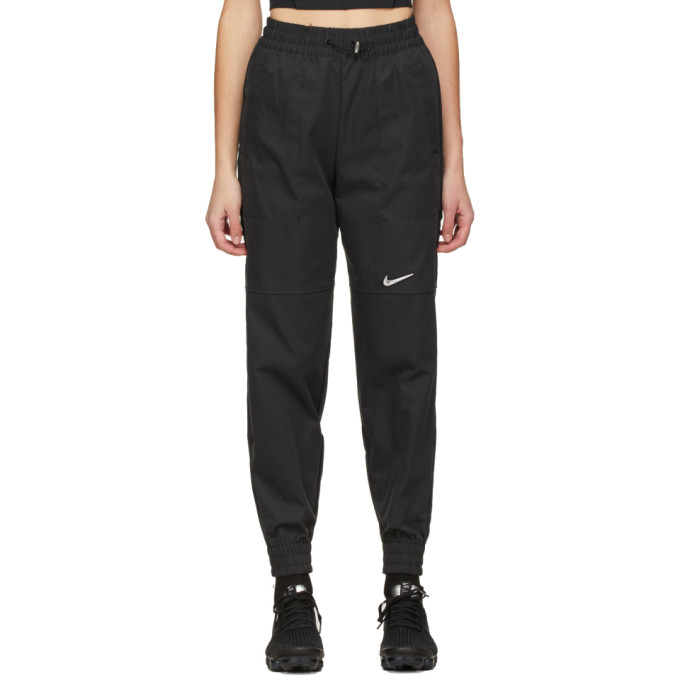 Nike NIKE BLACK WOVEN SPORTSWEAR SWOOSH LOUNGE PANTS